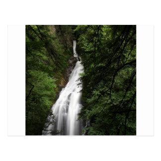 Torrente de fluxo branca da cachoeira cartao postal