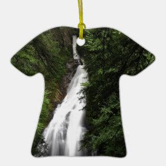 Torrente de fluxo branca da cachoeira ornamento para arvore de natal
