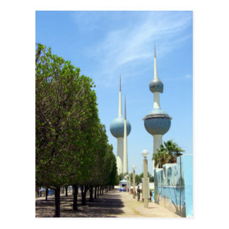 Torres de Kuwait - símbolo de Kuwait Cartões Postais