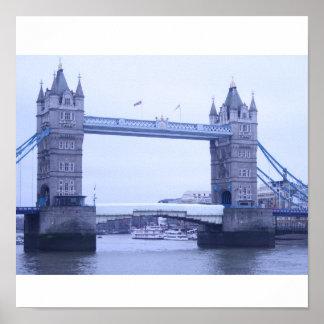 """Tower bridge Londres"" poster Kunstdruck"