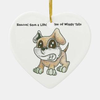 TOWT - Coração do cão da mascote Ornamentos Para Arvore De Natal