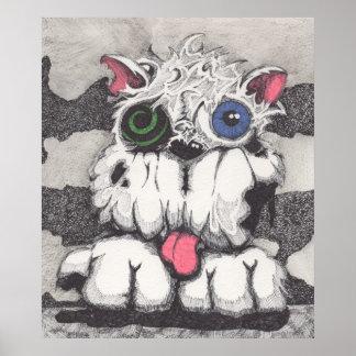 Toxie o poster do cão do zombi pôster