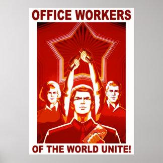 Trabalhadores de escritório posteres