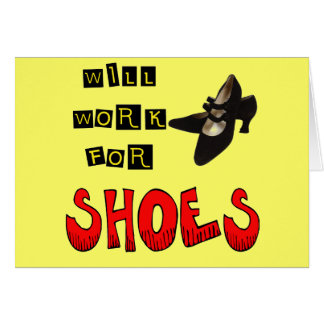 Trabalhará para t-shirt e presentes dos calçados cartão comemorativo