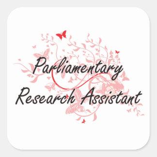 Trabalho artístico parlamentar Desi do assistente Adesivo Quadrado