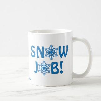Trabalho de neve! caneca