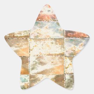 Trabalho do azulejo do VITRAL do estilo do vintage Adesito Estrela