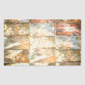Trabalho do azulejo do VITRAL do estilo do vintage Adesivos