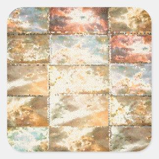 Trabalho do azulejo do VITRAL do estilo do vintage Adesivo Em Forma Quadrada