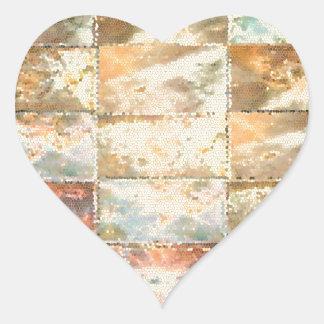 Trabalho do azulejo do VITRAL do estilo do vintage Adesivos Em Forma De Corações