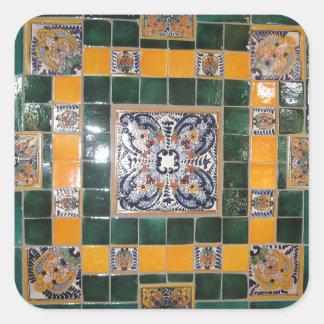 Trabalho verde mexicano do azulejo do estilo de adesivo quadrado