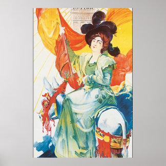 Trabalhos de arte 1900 do poster das viagens pôster