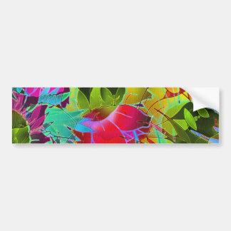 Trabalhos de arte abstratos florais do autocolante adesivo para carro