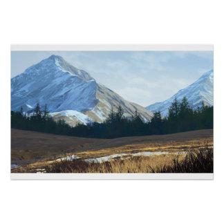 Trabalhos de arte de Digitas da paisagem Poster Perfeito