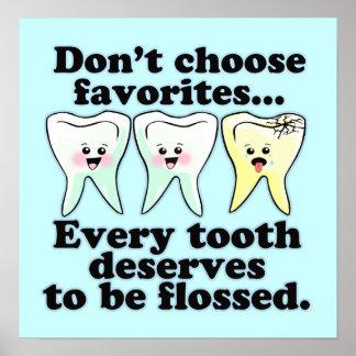Trabalhos de arte dentais engraçados do escritório poster