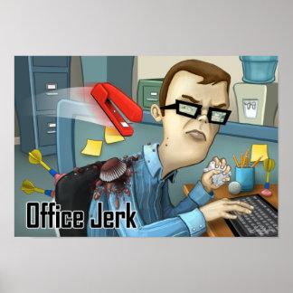 Trabalhos de arte do empurrão do escritório posters