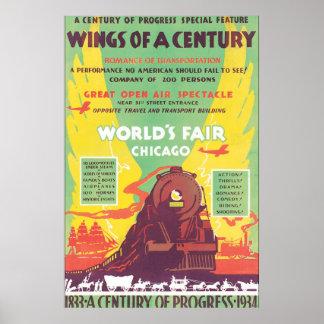Trabalhos de arte do poster das viagens vintage de pôster