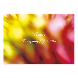 Trabalhos de arte multicoloridos Dressy chiques Cartão De Visita Grande