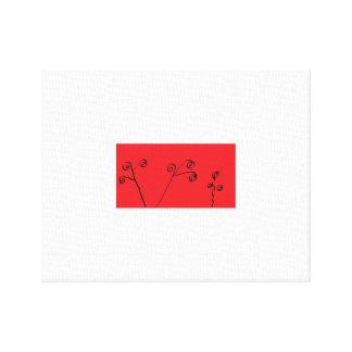 Trabalhos de arte vermelhos e pretos tranquilos impressão em tela