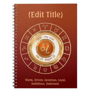 Traços da personalidade do sinal do zodíaco de LEO Cadernos Espiral