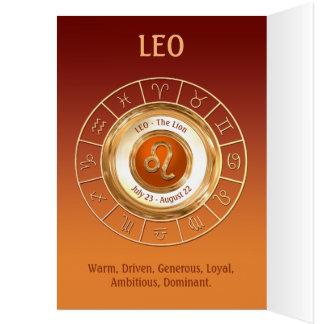 Traços da personalidade do sinal do zodíaco de LEO Cartão Comemorativo