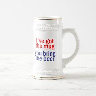 Traga a caneca de cerveja