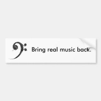 Traga a música para trás adesivo para carro