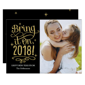 Traga-lhe 2018 a COR EDITÁVEL cartão do ano novo