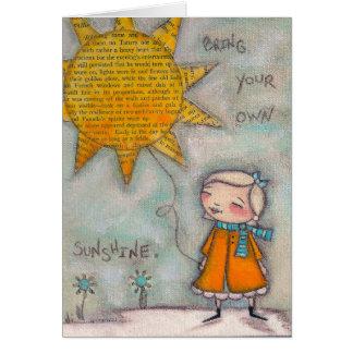 Traga sua própria luz do sol - cartões de nota