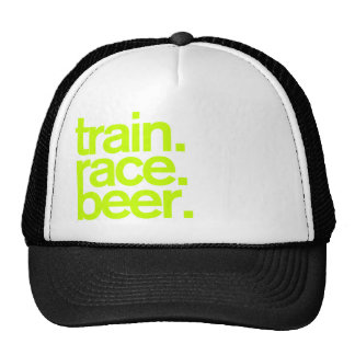 TRAIN.RACE.BEER. Chapéu do camionista Boné