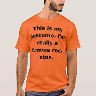 Traje da estrela do rock camiseta
