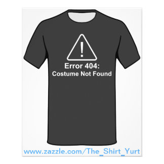 Traje do erro 404 o Dia das Bruxas não encontrado Flyer 11.43 X 14.22cm