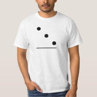 Traje do grupo dos dominós 3-0 t-shirts