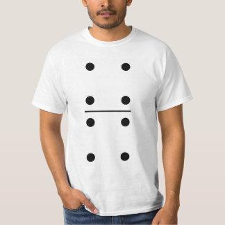 Traje do grupo dos dominós 4-4 camiseta