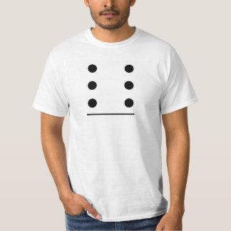 Traje do grupo dos dominós 6-0 camiseta