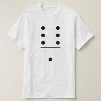 Traje do grupo dos dominós 6-1 camiseta