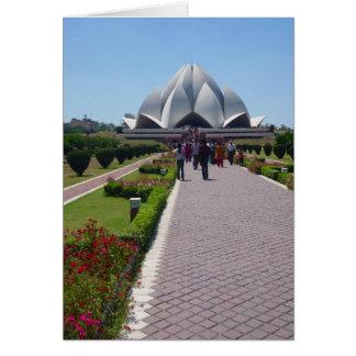 trajeto do templo do bahai cartão