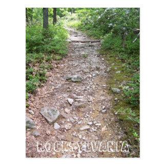 trajeto rochoso da fuga apalaches do rocksylvania cartão postal