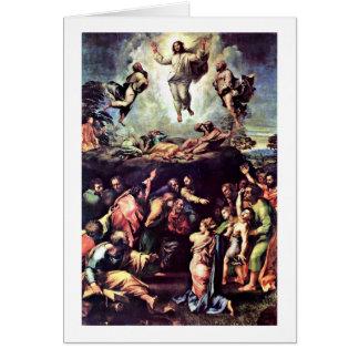 Transfiguração por Raffael Cartão Comemorativo