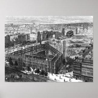 Transformação de Paris: Construção em 1861 Poster