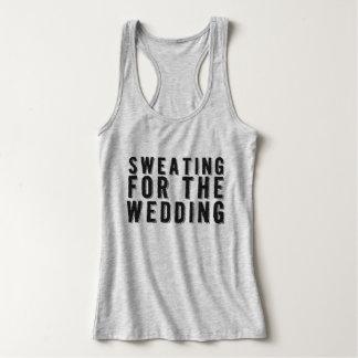 Transpiração para a camisola de alças do casamento camiseta