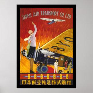 Transporte aéreo de Japão Poster