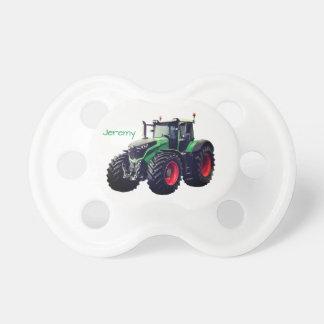 Trator de fazenda verde moderno personalizado chupeta