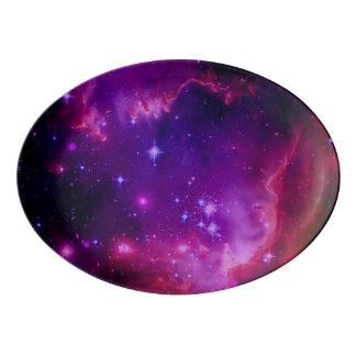 Travessa De Porcelana Galáxia do espaço/estrelas roxas matiz da nebulosa