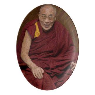 Travessa De Porcelana Meditação budista Yog do budismo de Dalai Lama