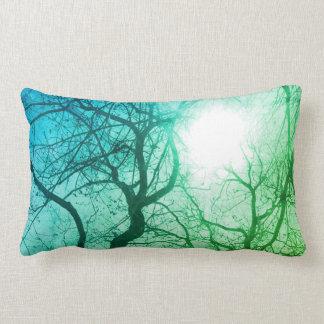 Travesseiro abstrato da decoração do verde da almofada lombar