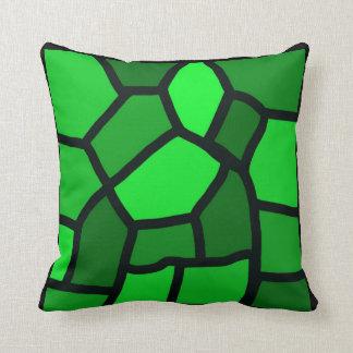 Travesseiro abstrato verde do vitral almofada