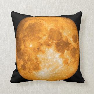 travesseiro alaranjado da Lua cheia Almofada