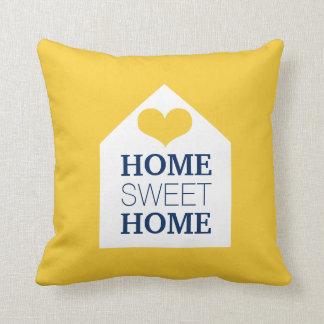 Travesseiro amarelo & azul HOME DOCE HOME