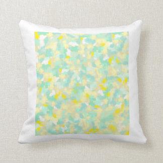 travesseiro amarelo e verde do sopro almofada